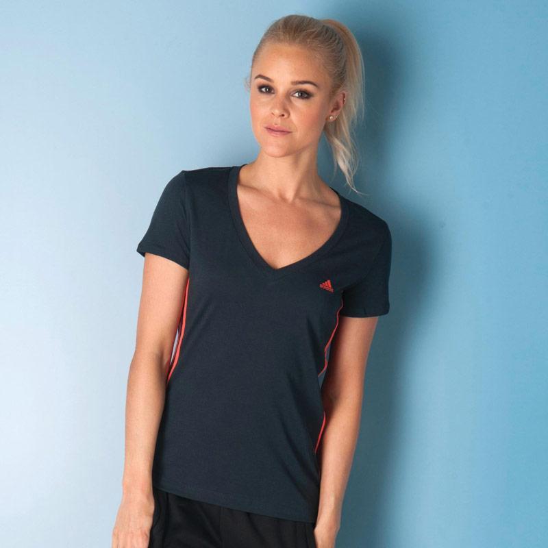 Adidas Womens Essentials 3S Seasonal T-Shirt Black