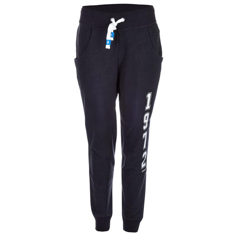 Tepláky Adidas Originals Womens Logo Essentials Baggy Track Pants Black, Velikost: 8 (XS)