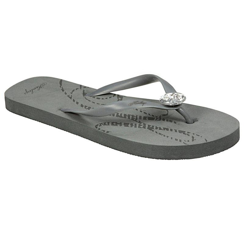 Henleys Womens Yew Flip Flops Charcoal