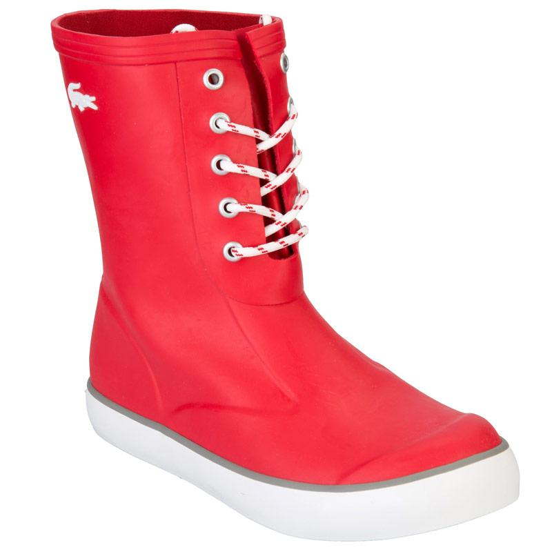 Lacoste Womens Poerio Wellies Red