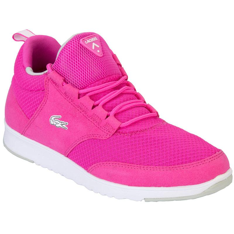 Boty Lacoste Womens Lightbase 01 Trainers Pink