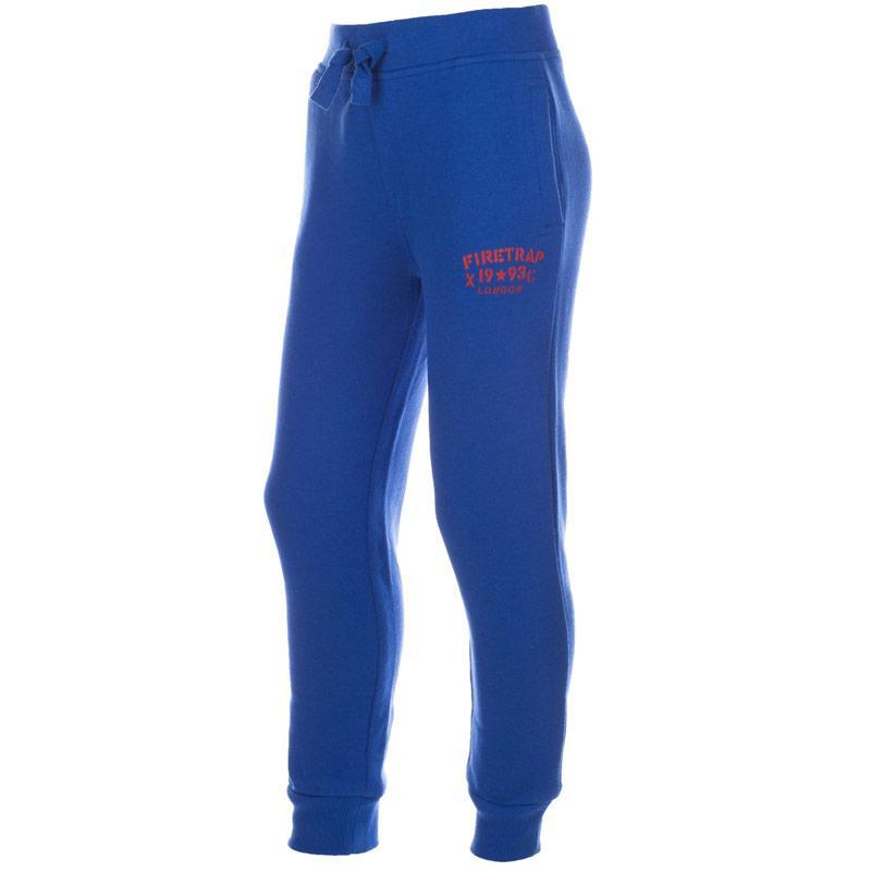 Kalhoty Firetrap Junior Boys Logo Jog Pant Blue