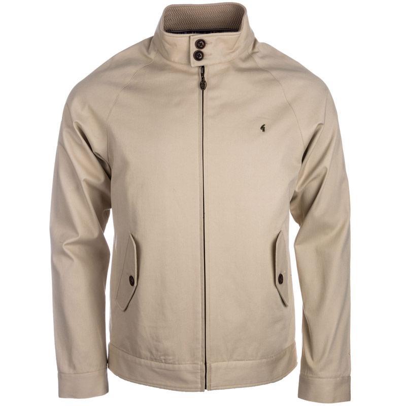 Bunda Gabicci Vintage Mens Twill Harrington Jacket Oatmeal