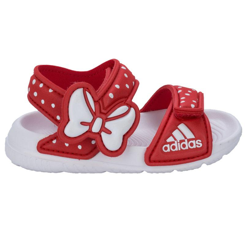 Adidas Infant Girls Disney Akwah Sandals White red