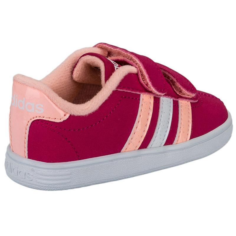 Adidas Neo Infant Girls VL Court Trainers Pink, Velikost: UK9,5 (euro 44)