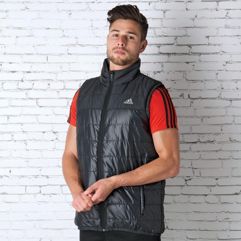 Vesta Adidas Mens Basic Padded Vest Midnight