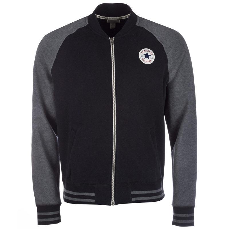 Bunda Converse Mens Core Baseball Jacket Black, Velikost: M