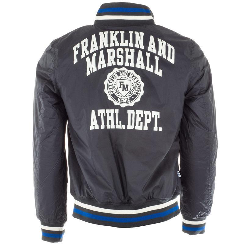 Bunda Franklin And Marshall Mens Fleece Lined Varsity Jacket Grey