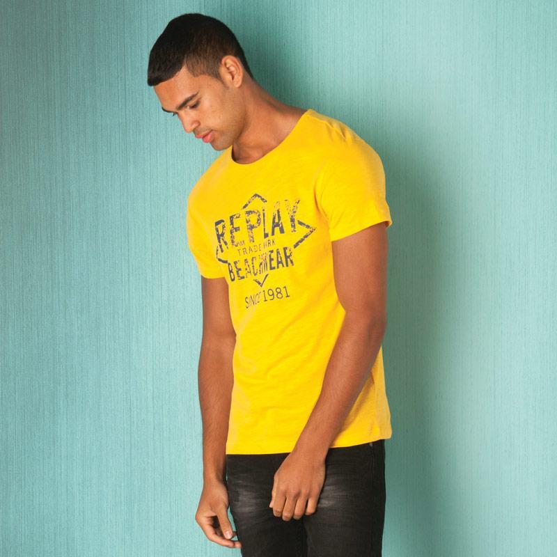 Tričko Replay Mens Logo T-Shirt Orange
