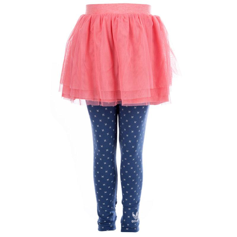 Adidas Originals Infant Girl Legging and Skirt Set Pink blue
