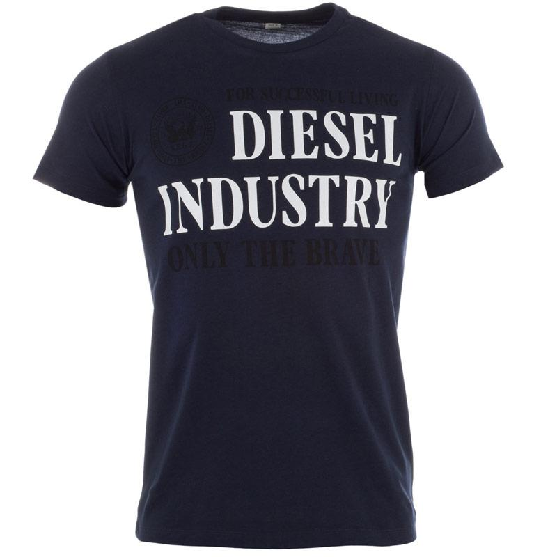 Tričko Diesel Mens T-Nola T-Shirt Navy