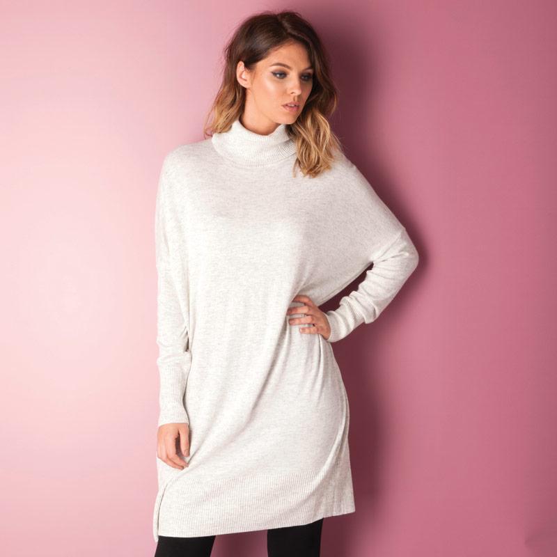 Svetr Vero Moda Womens Indi Wool Jumper Grey Marl