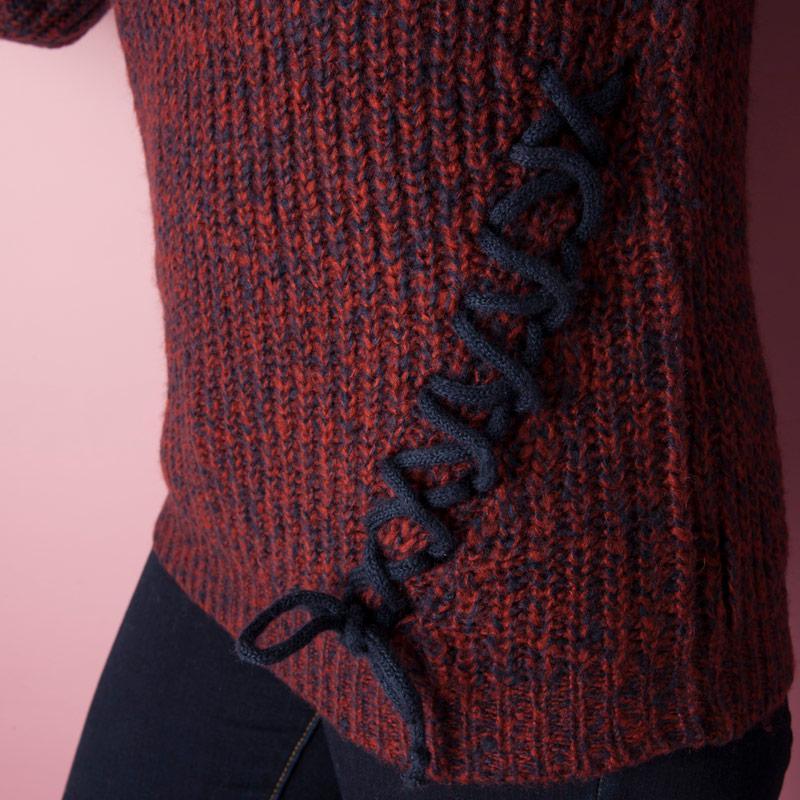 Svetr Vero Moda Womens Sally Knit Jumper Red