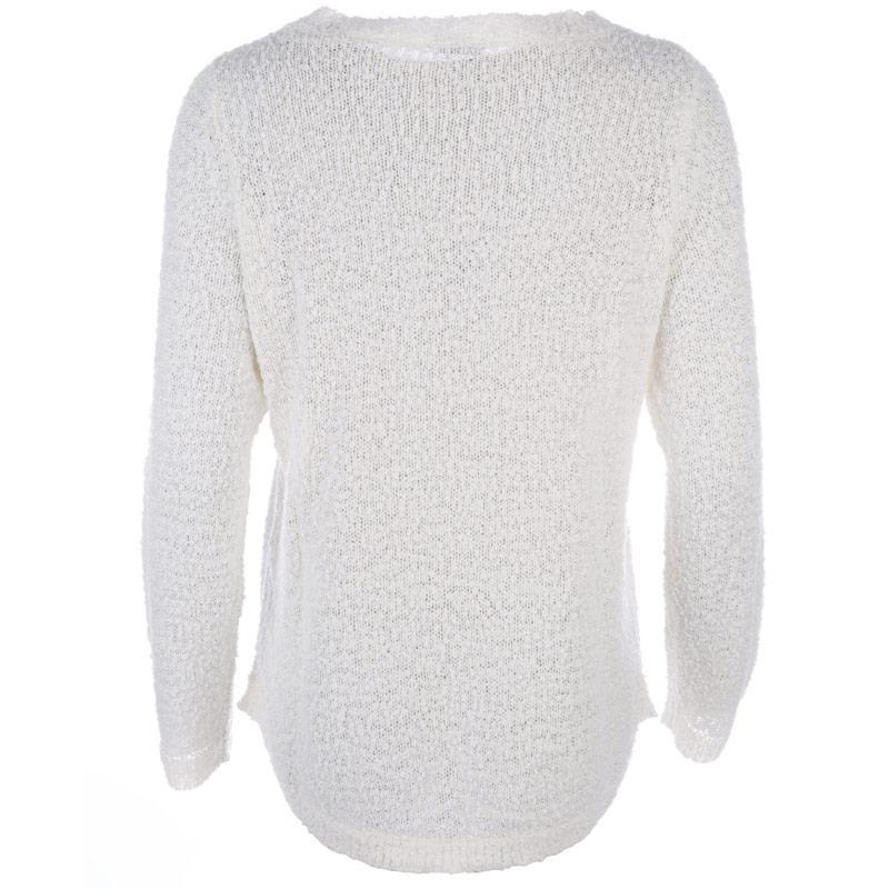 Svetr Vero Moda Womens Snow Knit Jumper 53300 White
