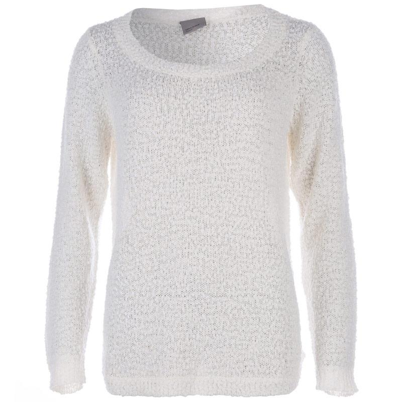 Svetr Vero Moda Womens Snow Knit Jumper 53300 White