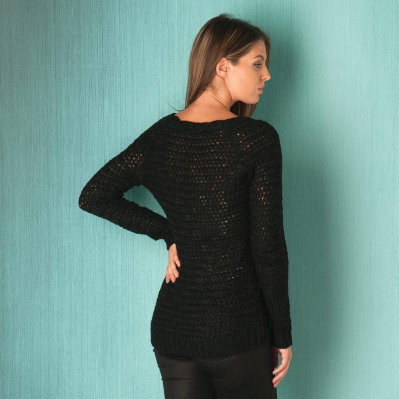 Svetr Vero Moda Womens Vmodessa Jumper Black