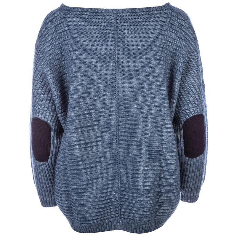 Svetr Replay Womens Wool Blend Mohair Blend Jumper Blue