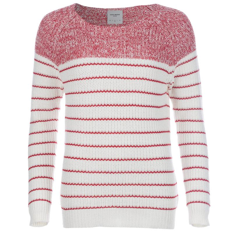 Svetr Vero Moda Womens Zoey Knit Jumper Red