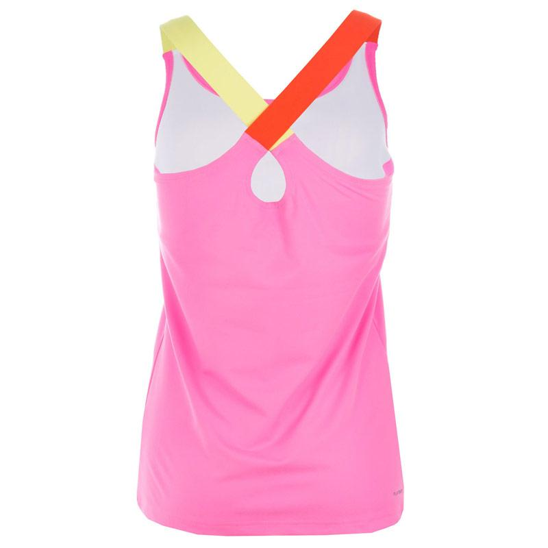Reebok Womens DF Long Bra Top Pink, Velikost: 20 (3XL)