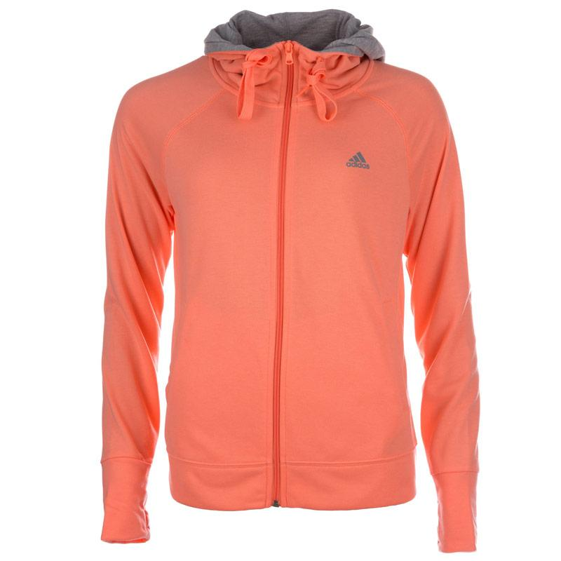 Mikina s kapucí Adidas Womens Prime Zip Hoody Peach