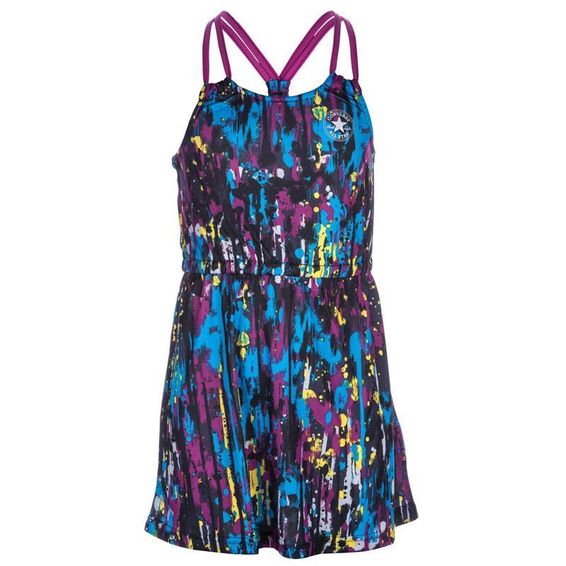 Šaty Converse Junior Girls Printed Knit Dress Black