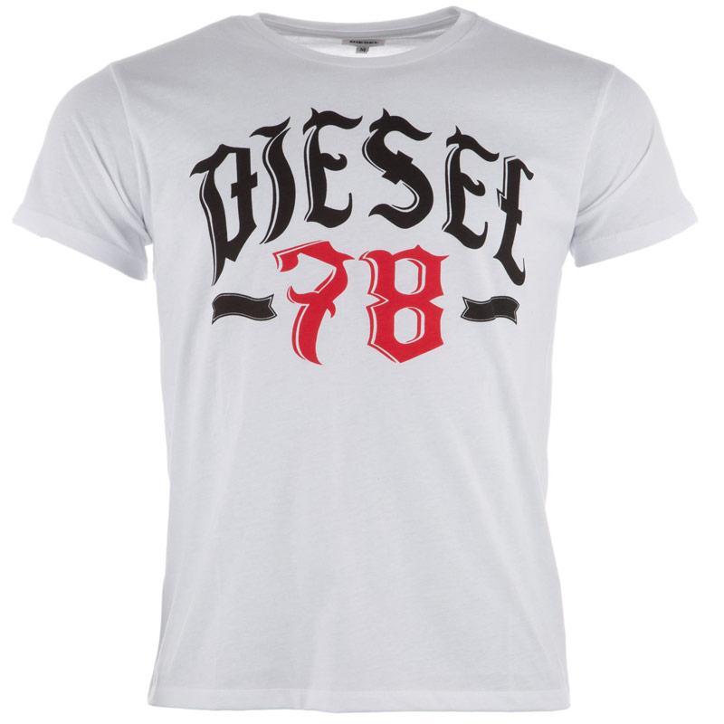 Tričko Diesel Mens T-Lonad T-Shirt White