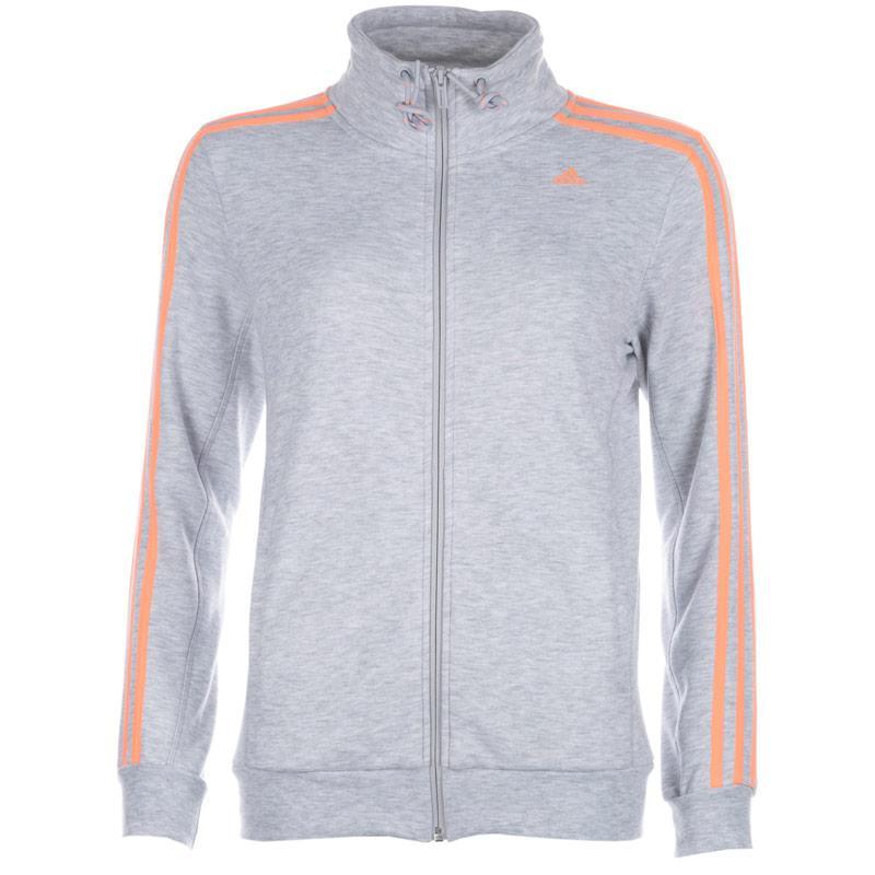 Mikina Adidas Womens Essentials 3S Track Top Grey Marl
