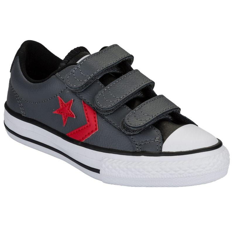 Boty Converse Junior Boys Star Player 3V Trainers Charcoal