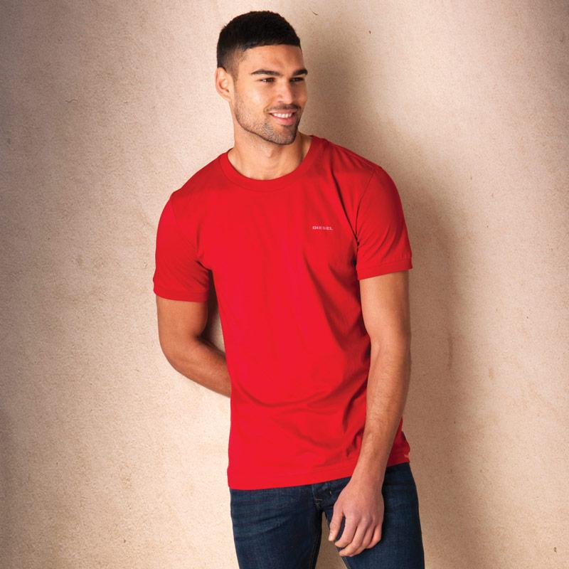 Tričko Diesel Mens Umlt-Jake T-Shirt Red