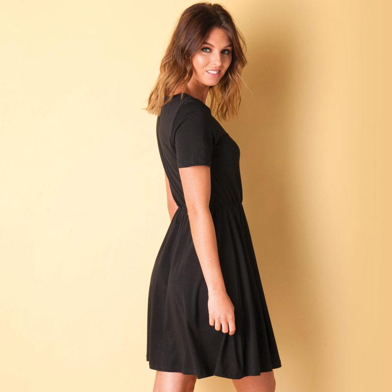 Šaty Vero Moda Womens Arina Dress Black
