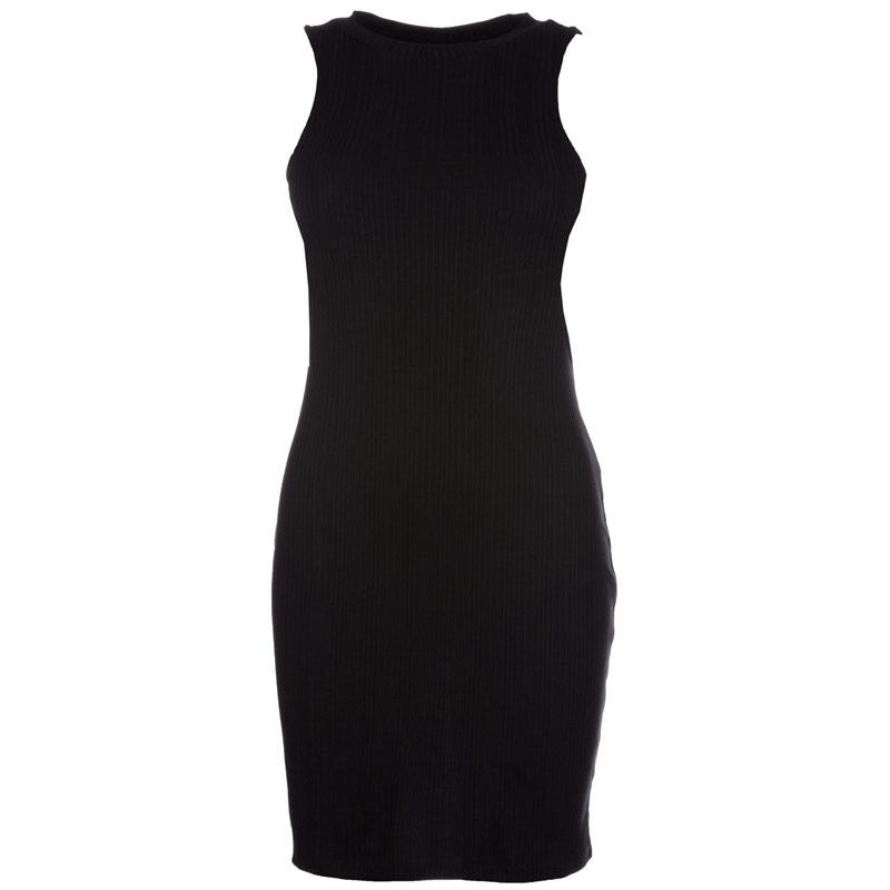 Šaty Vero Moda Womens Erica Sleeveless Cut Out Dress Black