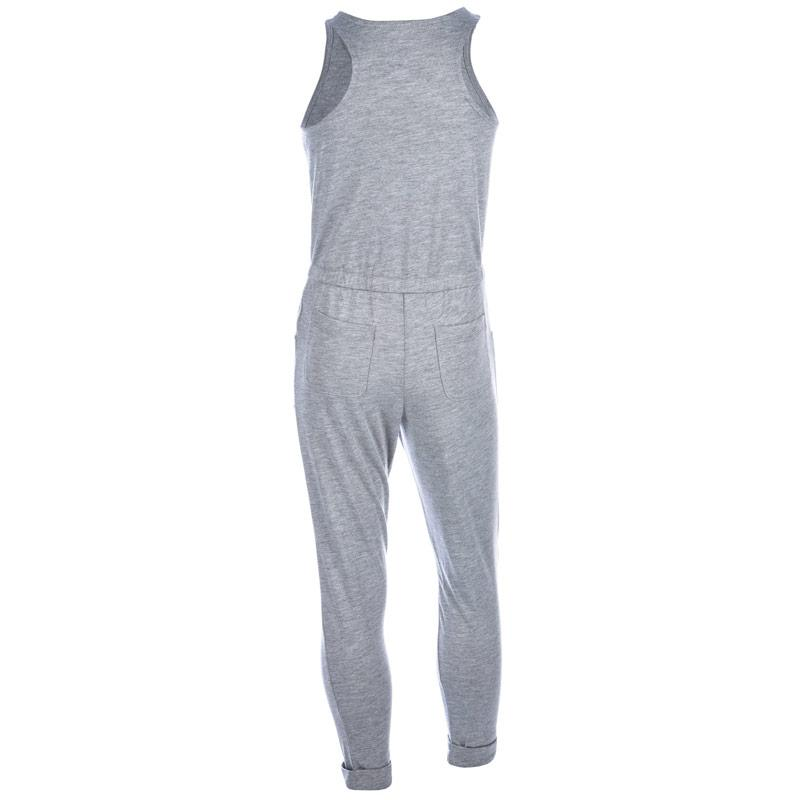 Šaty Converse Infant Girls Long Knit Jumpsuit Grey Heather