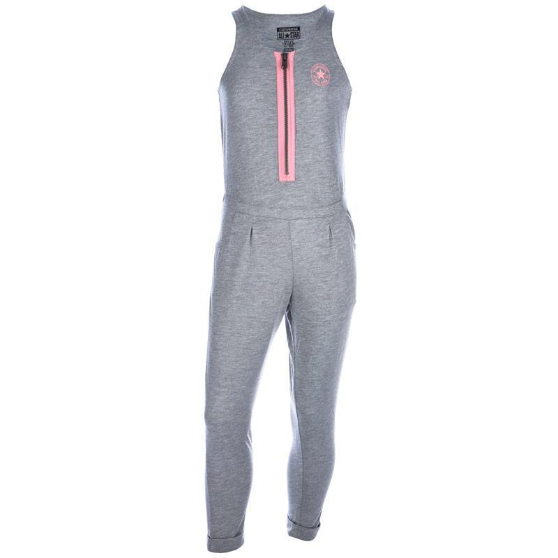 Šaty Converse Infant Girls Long Knit Jumpsuit Grey Heather