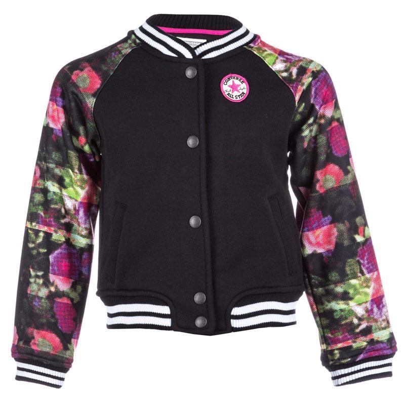 Converse Infant Girls Varsity Jacket Black