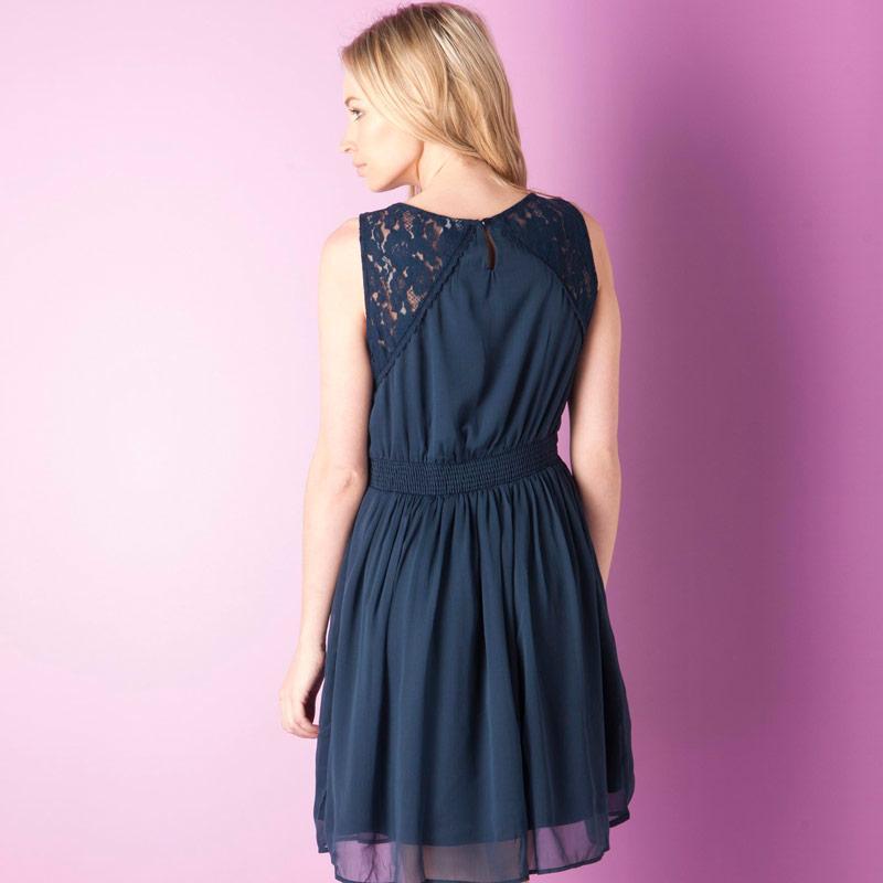 Šaty Vero Moda Womens Freja Mini Dress Black