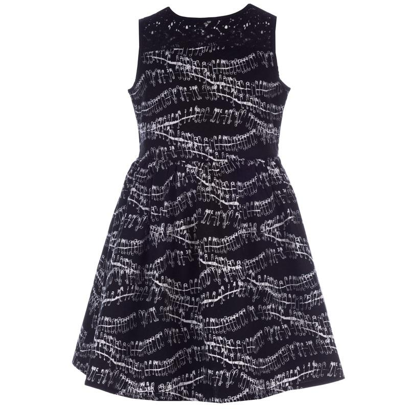 Šaty French Connection Junior Girls Safety Pin Dress Black