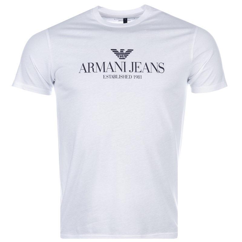 Tričko Armani Mens T-Shirt White