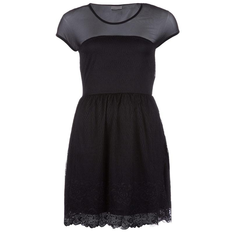 Šaty Vero Moda Womens Galia Dress Black