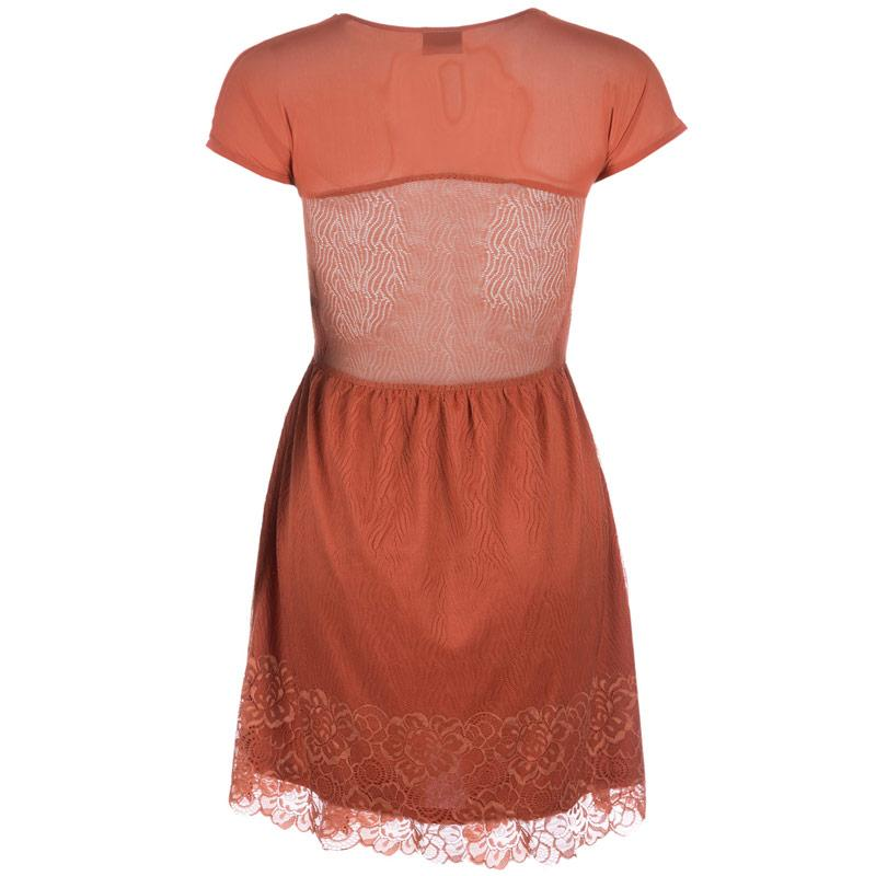 Šaty Vero Moda Womens Galia Dress Rust