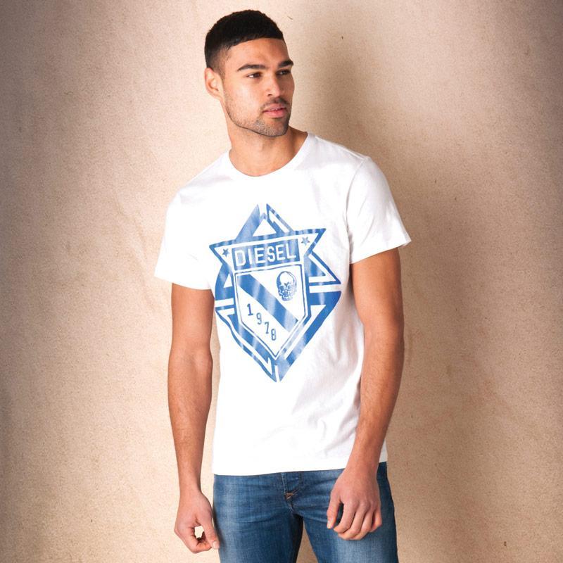 Tričko Diesel Mens T-Scod T-Shirt White