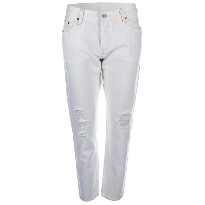 Levis Womens 501 CT White Tumble Jeans White