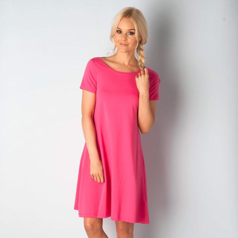 Šaty Vero Moda Womens Majera Short Sleeve Dress Cerise