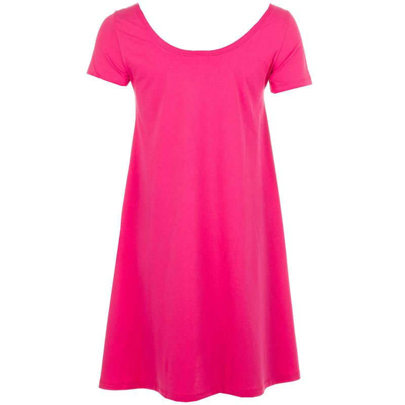 Šaty Vero Moda Womens Majera Short Sleeve Dress Cerise