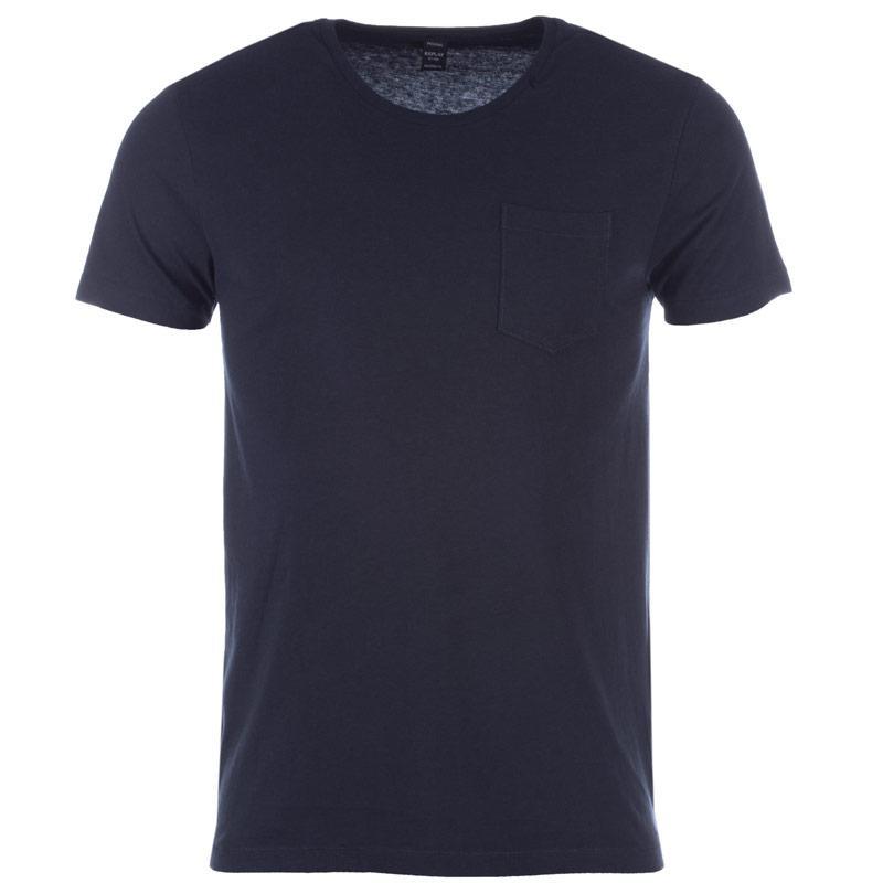 Tričko Replay Mens Pocket T-Shirt Blue