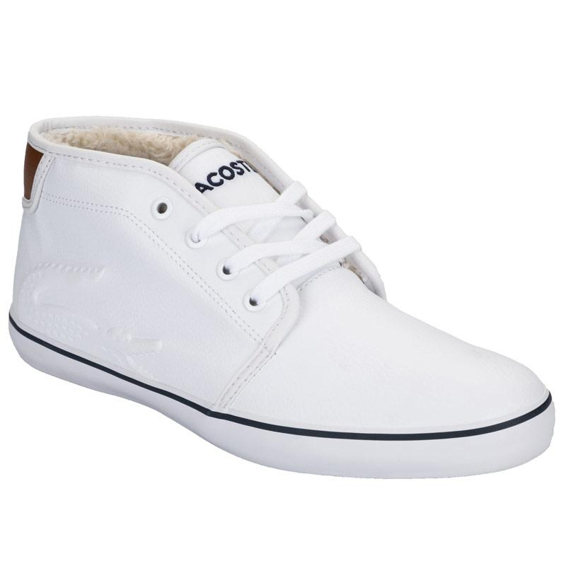Boty Lacoste Junior Boys Ampthill Chunky Trainers White
