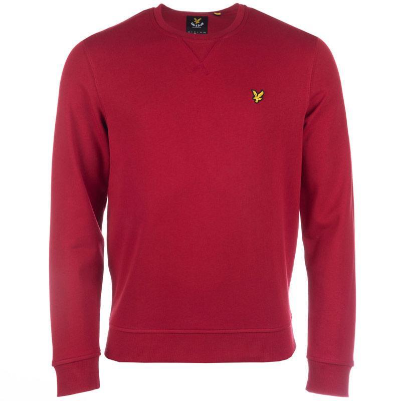 Mikina Lyle And Scott Mens Crew Neck Sweatshirt Red