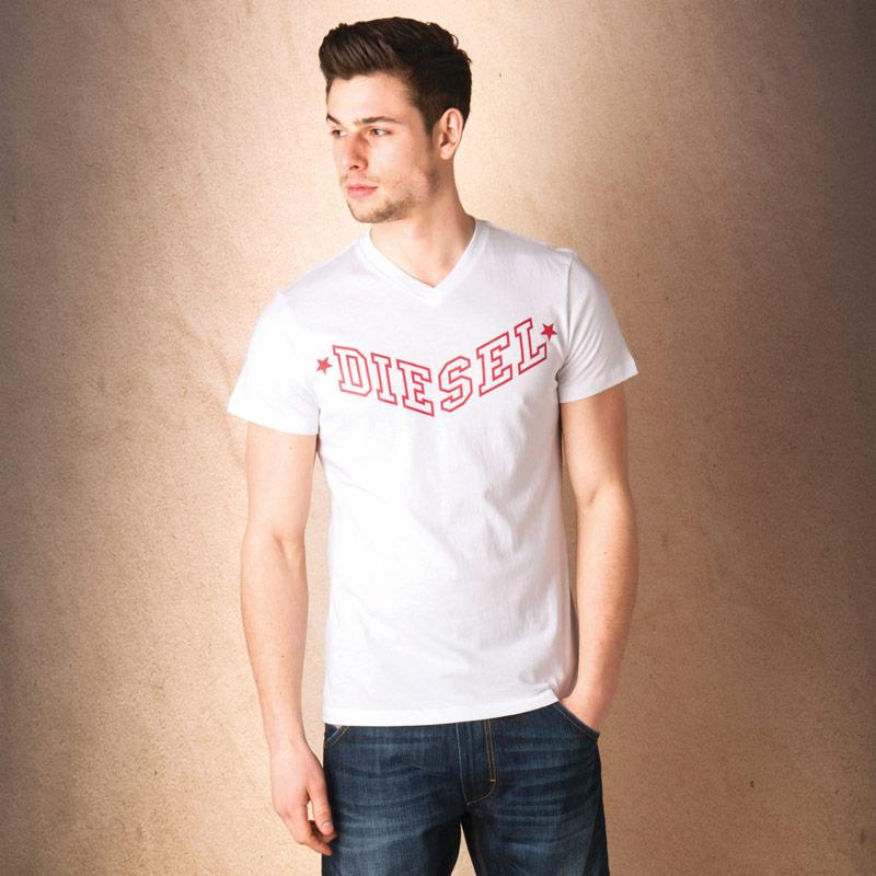 Tričko Diesel Mens T-Kritil S T-Shirt White