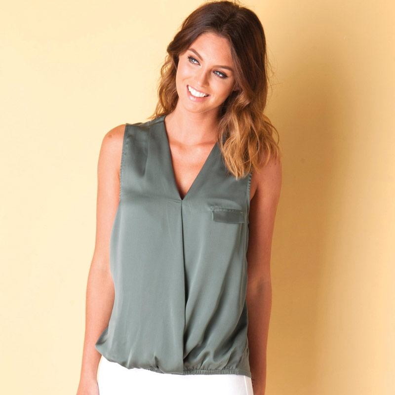 Vero Moda Womens Tigray Lea Top Green