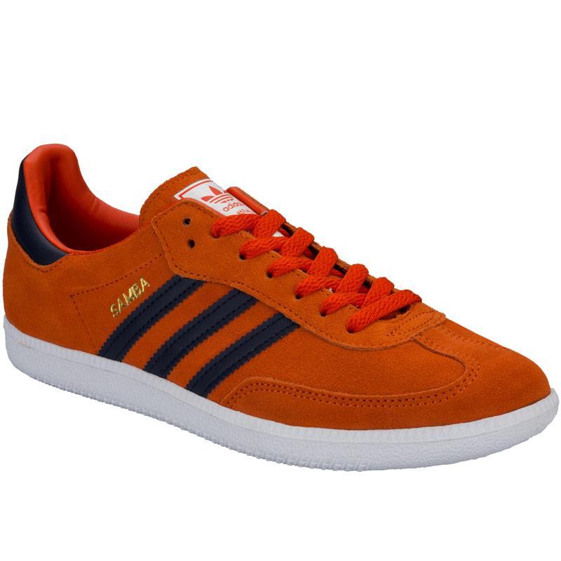 Boty Adidas Originals Mens Samba Trainers Orange