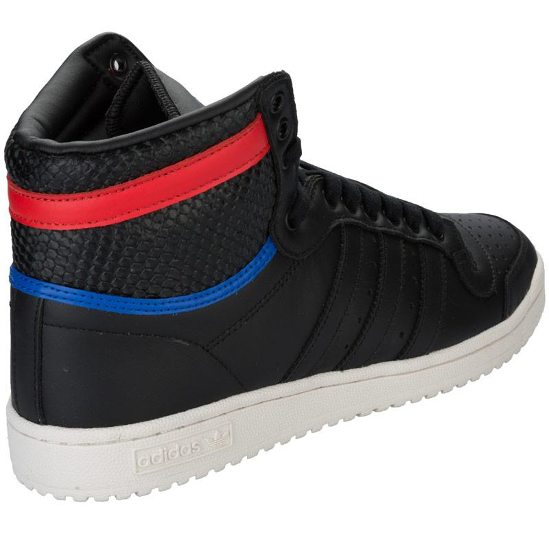 Boty Adidas Originals Mens Top Ten Hi Clean Iconics Trainers Black, Velikost: UK6 (euro 39)